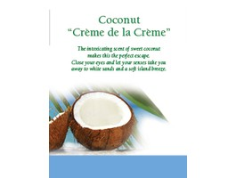 """Coconut Creme De La Creme"" Frameble Shelf Flyer 8.5 x 11"
