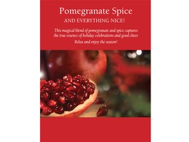 """Pomegranate Spice"" Framable Shelf Talker 8.5 x 11"