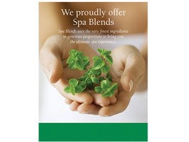 """Spa Blends"" Frameable Shelf Flyer 8.5x11"