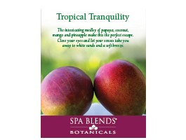 """Tropical Tranquility"" Frameable Shelf Flyer 8.5 x 11"