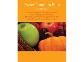"""Sweet Pumpkin Bliss"" Framable Shelf Sign 8.5 x 11"
